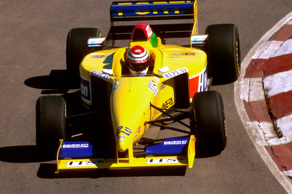 Buenos Aires, Argentina.5-7 April 1996.Andrea Montermini (Forti FG01 95B Ford) 10th position.Ref-96 ARG 21.World Copyright - LAT Photographic