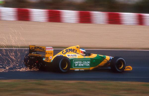 1992 Spanish Grand Prix.Catalunya, Barcelona, Spain.1-3 May 1992.Michael Schumacher (Benetton B192 Ford) 2nd position.Ref-92 ESP 06.World Copyright - LAT Photographic