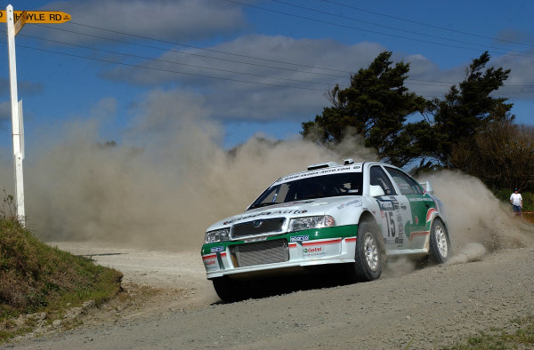 2002 World Rally Championship.Propecia Rally of New Zealand, Auckland, October 3rd-6th.Toni Gardemeister on stage 9.Photo: Ralph Hardwick/LAT
