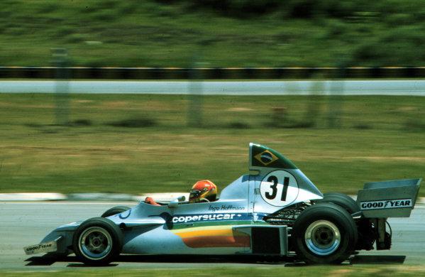 1976 Brazilian Grand Prix.Interlagos, Sao Paulo, Brazil.23-25 January 1976.Ingo Hoffmann (Copersucar Fittipaldi FD03 Ford) 11th position.World Copyright - LAT Photographic