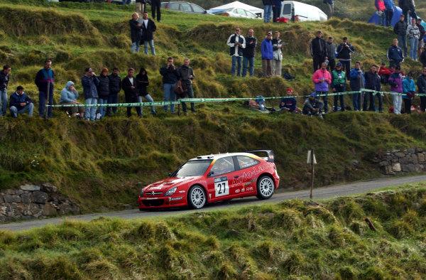 2002 World Rally Championship.Rallye d'Italia, 20-22 September.Sanremo, Italy.Jesus Puras on Stage 2.Photo: Ralph Hardwick/LAT