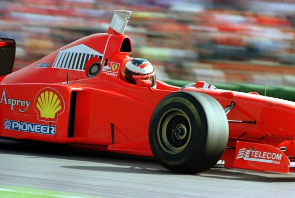 1997 German Grand Prix.Hockenheim, Germany.25-27 July 1997Michael Schumacher (Ferrari F310B) 2nd position.World Copyright - LAT Photographic