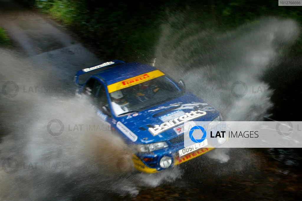 2002 British Rally Championship.Manx International Rally. Douglas, Isle of Man.1-3 August 2002.David Higgins/Daniel Barritt (Subaru Impreza) 1st position in the N4 class (4th overall).Ref-02 MIR 20.World Copyright - Malcolm Griffiths/LAT Photographic