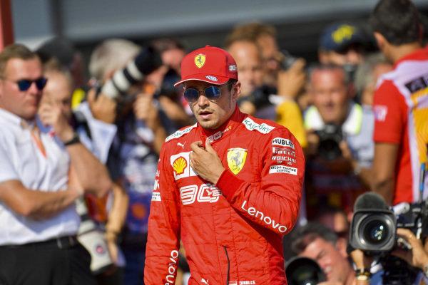 Pole man Charles Leclerc, Ferrari