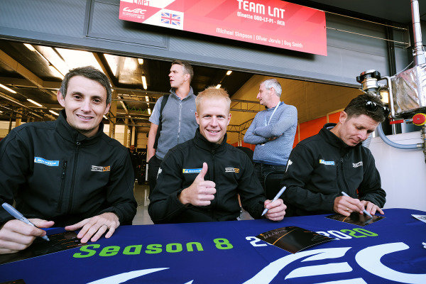#6 Team LNT Ginetta G60-LT-P1: Michael Simpson, Oliver Jarvis, Guy Smith