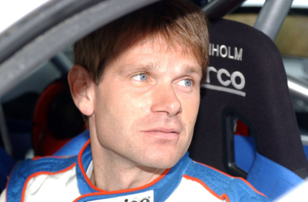 World Rally Championship, Rally of Argentina, May 16-19, 2002.Marcus Gronholm at the start of stage 19 .Photo: Ralph Hardwick/LAT