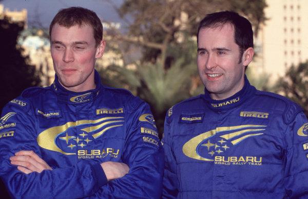 WRC Monte Carlo 2000Day 1 leaders before retirement , Richard Burns and co-driver - portrait.Photo: McKlein/LATTel: +44 (0)181 251 3000Fax: +44 (0)181 251 3001Somerset House, Somerset Road, Teddington, Middlesex, United Kingdon. TW11 8RU