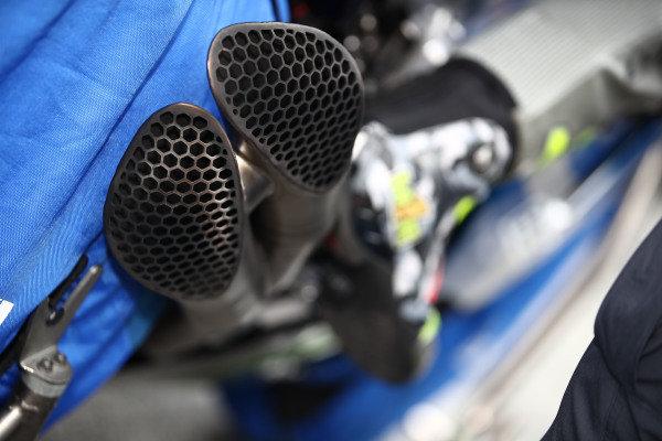 Team Suzuki MotoGP detail.