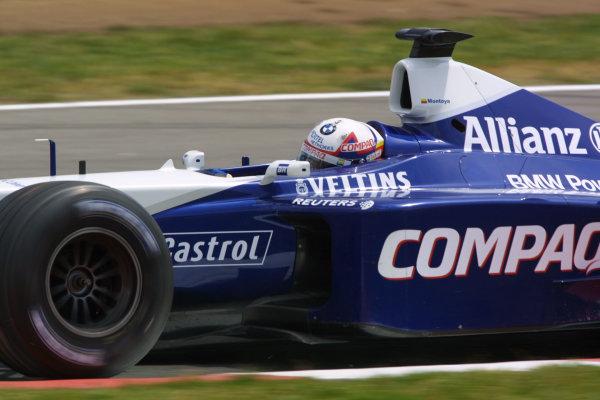 2001 Spanish Grand PrixCatalunya, Barcelona, Spain. 27-29 April 2001.Juan-Pablo Montoya (Williams FW23 BMW) 2nd position.World Copyright - LAT Photographicref: 8 9 MB Digital File