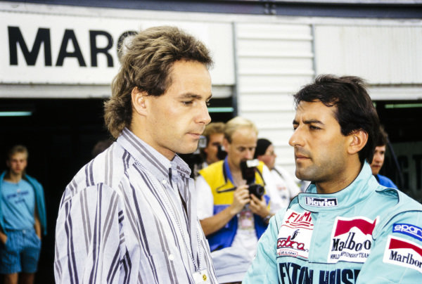Gerhard Berger and Ivan Capelli.
