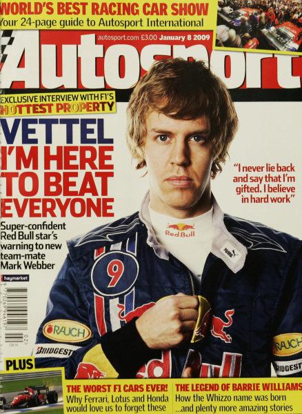 Cover of Autosport magazine, 8th January 2009