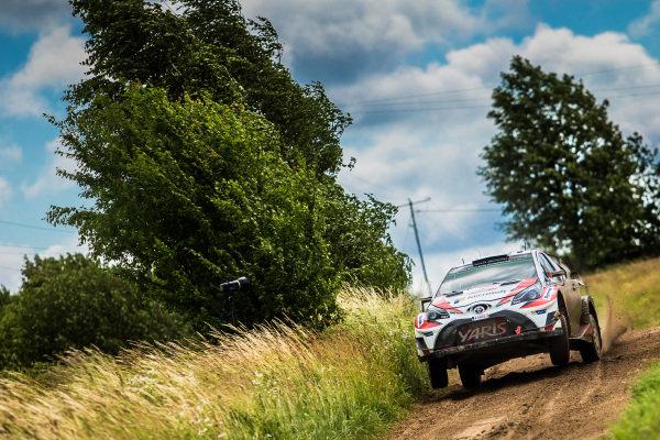 Juho Hanninen (FIN) / Kaj Lindstrom (FIN), Toyota Gazoo Racing Toyota Yaris WRC at World Rally Championship, Rd8, Rally Poland, Day Three, Mikolajki, Poland, 2 July 2017.