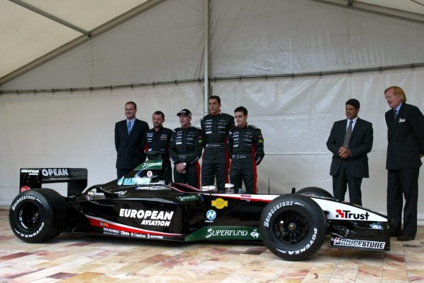 The Minardi Cosworth PS03 is unveiled.