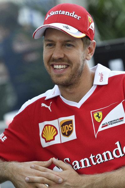Sebastian Vettel (GER) Ferrari at Formula One World Championship, Rd18, United States Grand Prix, Qualifying, Circuit of the Americas, Austin, Texas, USA, Saturday 22 October 2016.