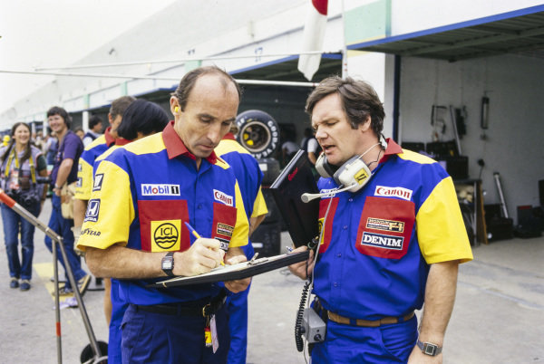 Frank Williams with Patrick Head.