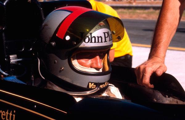 1978 Brazilian Grand Prix.Jacarepagua, Rio de Janeiro, Brazil.27-29 January 1978.Mario Andretti (Lotus Ford) 4th position.Ref-78 BRA 08.World Copyright - LAT Photographic