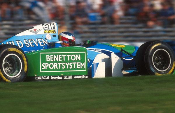 1994 European Grand Prix.Jerez, Spain.14-16 October 1994.Michael Schumacher (Benetton B194 Ford) 1st position.Ref-94 EUR 13.World Copyright - LAT Photographic