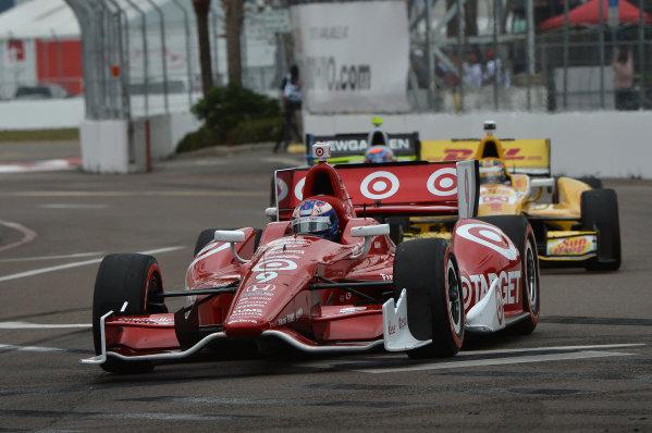 Scott Dixon (NZL) Target Chip Ganassi Racing. IndyCar Series, Rd1, Honda Grand Prix of St. Petersburg, St. Petersburg, Florida, USA, 22-24 March 2013.