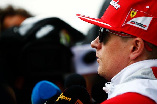 Shanghai International Circuit, Shanghai, China.  Friday 07 April 2017. Kimi Raikkonen, Ferrari. World Copyright: Andy Hone/LAT Images ref: Digital Image _ONZ4214