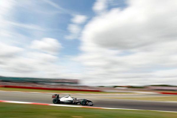 Silverstone, Northamptonshire, England10th July 2010Nico Rosberg, Mercedes GP W01. Action. World Copyright: Andrew Ferraro/LAT Photographicref: Digital Image _Q0C7521