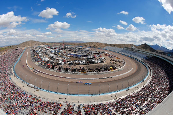 Monster Energy NASCAR Cup Series TicketGuardian 500 ISM Raceway, Phoenix, AZ USA Sunday 11 March 2018 Denny Hamlin, Joe Gibbs Racing, Toyota Camry FedEx Freight track overview World Copyright: Russell LaBounty NKP / LAT Images