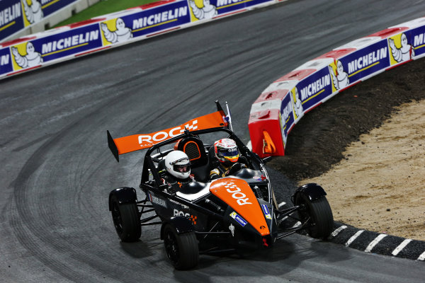 2015 Race Of Champions Olympic Stadium, London, UK Saturday 21 November 2015 Romain Grosjean (FRA) in the Ariel Atom Cup Copyright Free FOR EDITORIAL USE ONLY. Mandatory Credit: 'IMP'