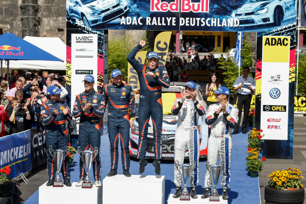 2014 World Rally Championship Rallye Deutschland 21-24 th August 2014 Thierry Neuville, Hyundai WRC, Podium Worldwide Copyright: McKlein/LAT