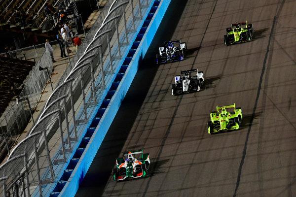 Kyle Kaiser, Juncos Racing Chevrolet, Simon Pagenaud, Team Penske Chevrolet, Graham Rahal, Rahal Letterman Lanigan Racing Honda