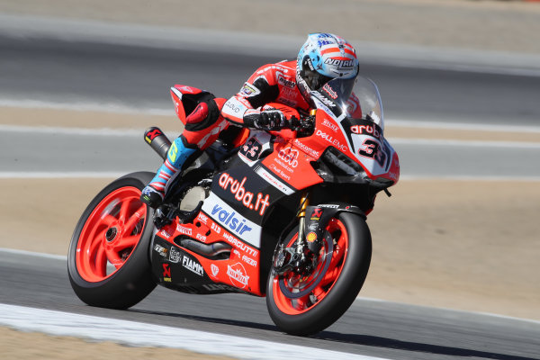 2017 Superbike World Championship - Round 8 Laguna Seca, USA. Friday 7 July 2017 Marco Melandri, Ducati Team World Copyright: Gold and Goose/LAT Images ref: Digital Image 682936