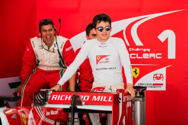 2017 FIA Formula 2 Round 4. Baku City Circuit, Baku, Azerbaijan. Friday 23 June 2017. Charles Leclerc (MCO, PREMA Racing)  Photo: Zak Mauger/FIA Formula 2. ref: Digital Image _56I6560