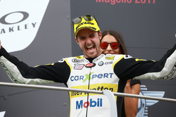 2017 Moto2 Championship - Round 6 Mugello, Italy Sunday 4 June 2017 Podium: Thomas Luthi, CarXpert Interwetten World Copyright: Gold & Goose Photography/LAT Images ref: Digital Image 674793