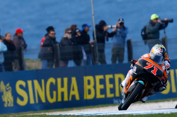 2017 Moto3 Championship - Round 16 Phillip Island, Australia. Friday 20 October 2017 Ayumu Sasaki, SIC Racing Team World Copyright: Gold and Goose / LAT Images ref: Digital Image 23275