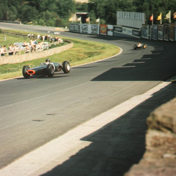 Spa-Francorchamps, Belgium.12-14 June 1964.Graham Hill (BRM P261) 5th position.Ref-3/1249.World Copyright - LAT Photographic