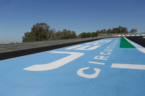 2017 FIA Formula 2 Round 10. Circuito de Jerez, Jerez, Spain. Thursday 5 October 2017. pit exit. Photo: Andrew Ferraro/FIA Formula 2. ref: Digital Image _FER8162