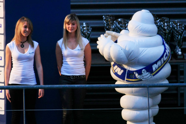 Spa Francorchamps, 3rd-5th May 2012,Michelin man and girlsWorld Copyright: Jakob Ebrey/LAT Photographic
