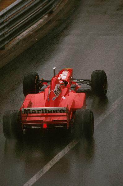 Monte Carlo, Monaco.8-11 May 1997.Eddie Irvine (Ferrari F310B) 3rd position.Ref-97 MON 01.World Copyright - LAT Photographic