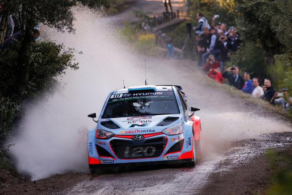 2015 World Rally Championship Round 11, Tour de Corse  1st - 4th October, 2015 Kevin Abbring, Hyundai, action  Worldwide Copyright: McKlein/LAT