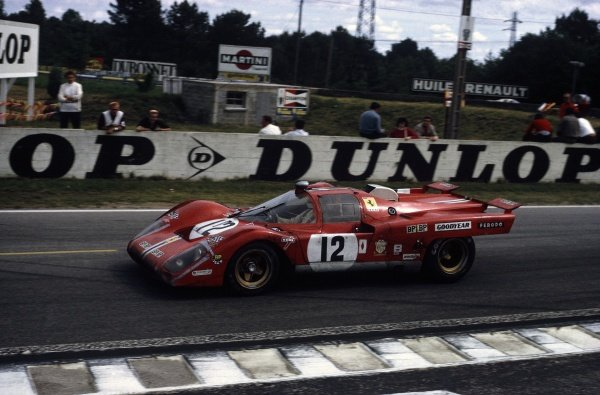 1971 Le Mans 24 hours.Le Mans, France. 12-13 June 1971.Sam Posey/Tony Adamovicz (Ferrari 512M), 3rd position.World Copyright: LAT PhotographicRef: 35mm transparency 71LM06