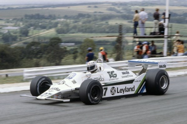 1980 South African Grand Prix.Kyalami, South Africa. 28 February-1 March 1980.Alan Jones (Williams FW07B-Ford Cosworth), retired.World Copyright: LAT PhotographicRef: 35mm transparency 80SA26