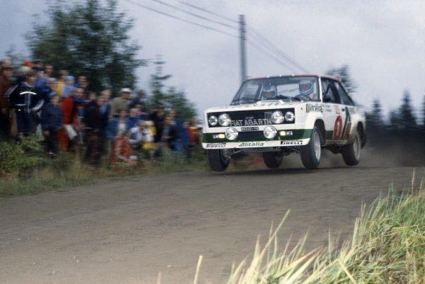 1978 World Rally Championship.1000 Lakes Rally, Finland. 25-27 August 1978.Markku Alen/Ilkka Kivimaki (Fiat 131 Abarth), 1st position.World Copyright: LAT PhotographicRef: 35mm transparency 78RALLY06