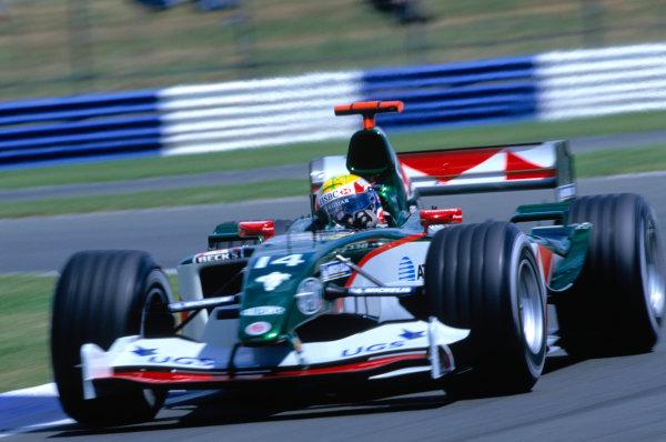 2004 British Grand PrixSilverstone England. 9th - 11th July.Mark Webber, Jaguar R5. Action. World Copyright:Glenn Dunbar/LAT PhotographicRef:35mm image A15