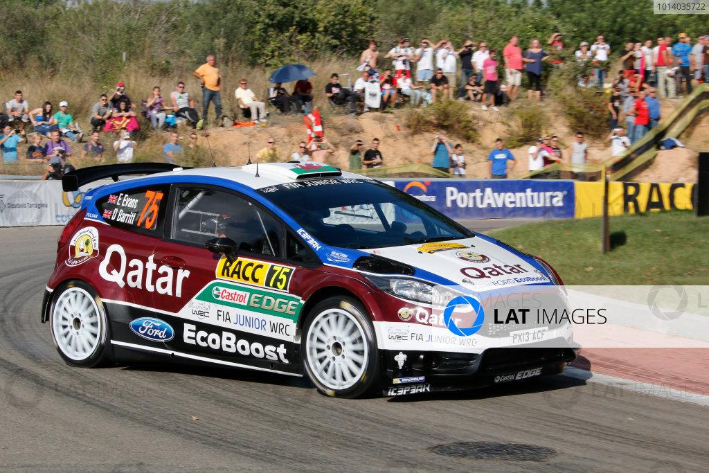 2013 FIA World Rally Championship Round 12 - Rally de Espana 24-27/10 2013. Eflyn Evans, Ford, action  Worldwide Copyright: McKlein/LAT