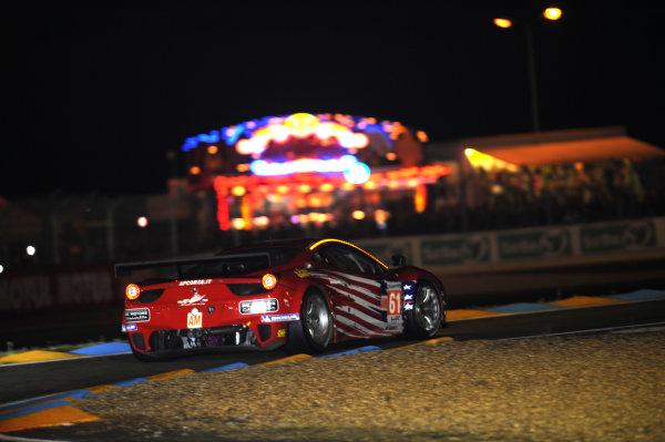 Circuit de La Sarthe, Le Mans, France. 13th - 17th June 2012. Thursday QualifyingRobert Kauffman/Rui Aguas/Brian Vickers, AF Course-Waltrip, No 61 Ferrari 458 Italia. Photo: Jeff Bloxham/LAT Photographicref: Digital Image DSC_2035