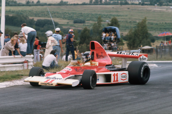 Kyalami, South Africa. 4-6 March 1976. James Hunt, McLaren M23 Ford. Ref: 76SA04. World Copyright - LAT Photographic