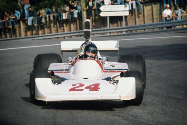 Montjuich Park, Barcelona, Spain. 25-27 April 1975. James Hunt, Hesketh 308 Ford. Ref: 75ESP05. World Copyright - LAT Photographic