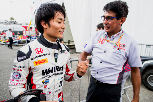 2017 FIA Formula 2 Round 9. Autodromo Nazionale di Monza, Monza, Italy. Friday 1 September 2017. Nobuharu Matsushita (JPN, ART Grand Prix).  Photo: Zak Mauger/FIA Formula 2. ref: Digital Image _56I6587