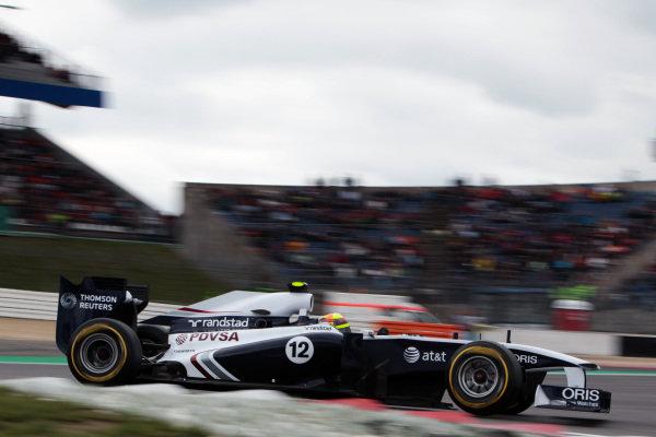 Pastor Maldonado (VEN) Williams FW33. Formula One World Championship, Rd 10, German Grand Prix, Qualifying Day, Nurburgring, Germany, Saturday 23 July 2011.
