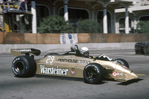 Long Beach, California, USA. 28-30 March 1980 Riccardo Patrese (Arrows A3-Ford Cosworth), 2nd position. Ref: 80LB11. World Copyright: LAT Photographic.