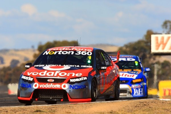 Jamie Whincup (AUS) Team Vodafone 888 Ford, was 2nd in Race 5 but suffered from a bad pit stop whilst 2nd in Race 6 to finish down the order.Australian V8 Supercars, Rd3, Winton Motor Raceway, Victoria, Australia, 2-3 May 2009.