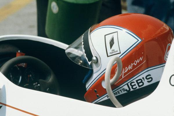 Hockenheim, Germany. 27-29 July 1979. Clay Regazzoni (Williams FW07-Ford), 2nd position helmet, portrait.  World Copyright: LAT Photographic. Ref:  79GER06.